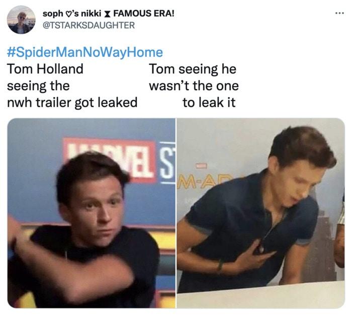 Spider-Man No Way Home Trailer Leak Memes - Tom Holland