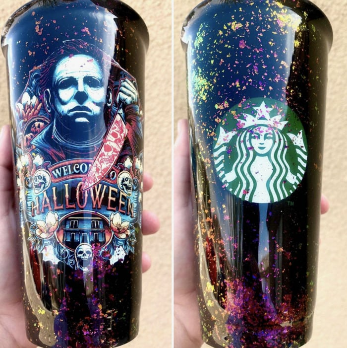 Starbucks Halloween Cups - Michael Myers Snowglobe