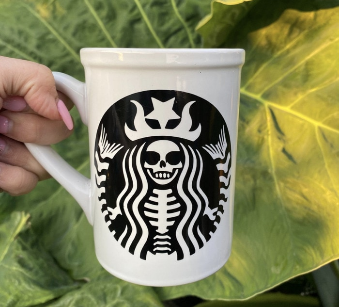 Starbucks Halloween Cups - Skeleton Mermaid Mug