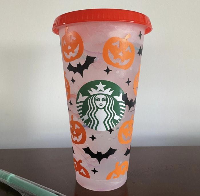 Starbucks Halloween Cups - Pumpkins Bats