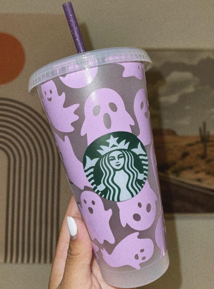 Starbucks Halloween Cups - Purple Ghost