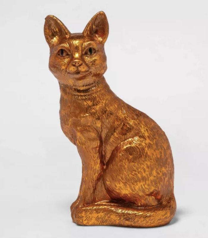 Target Halloween Hyde and Eek 2021 - Copper Cat Sculpture