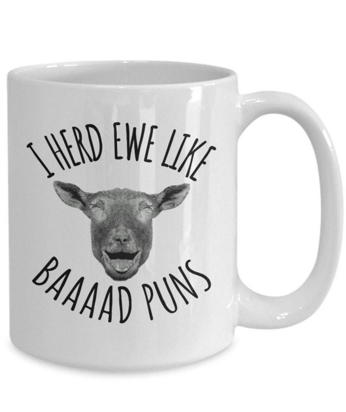 Bad Puns - ewe like baaad puns mug