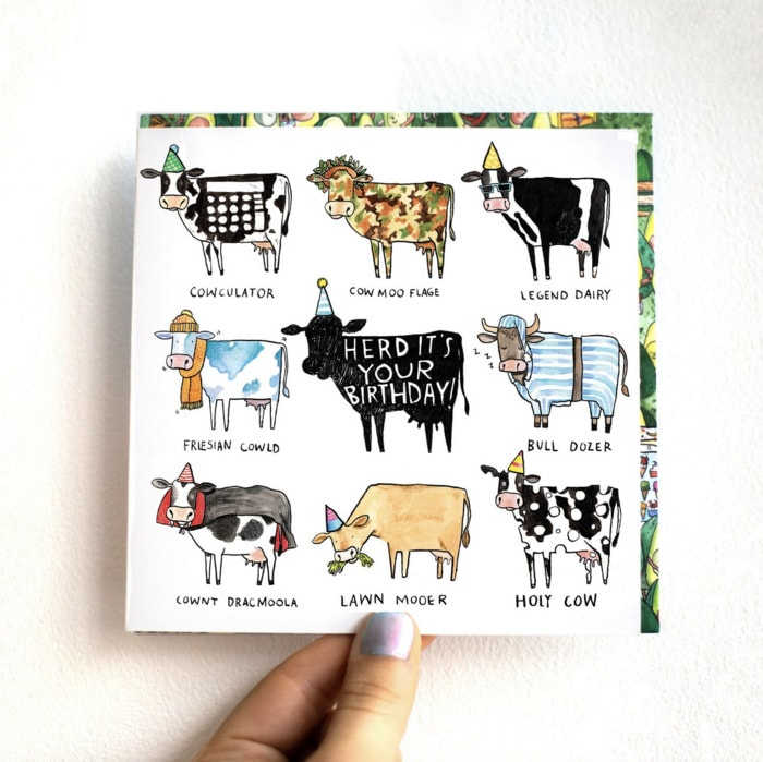 Bad Puns - herd it's your birthday card