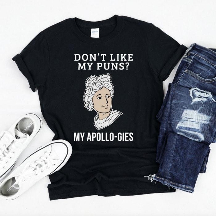 Bad Puns - Apollo-gies tee