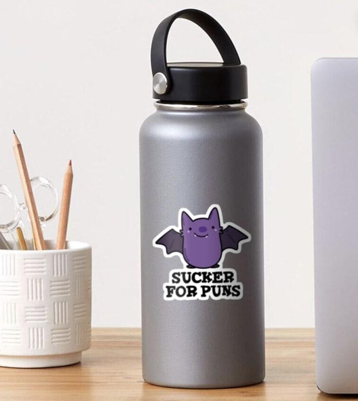 Bat Puns - Sucker For Funs Sticker