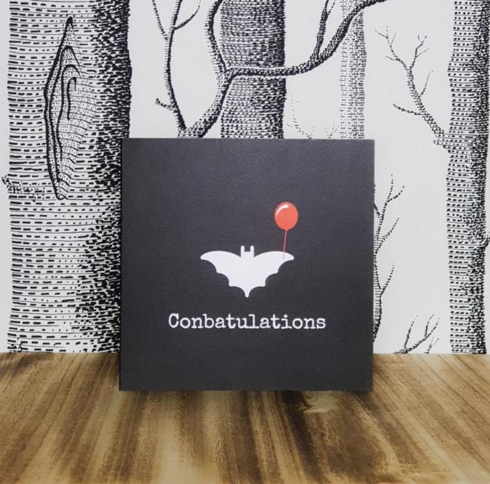 Bat Puns - Conbatulations card