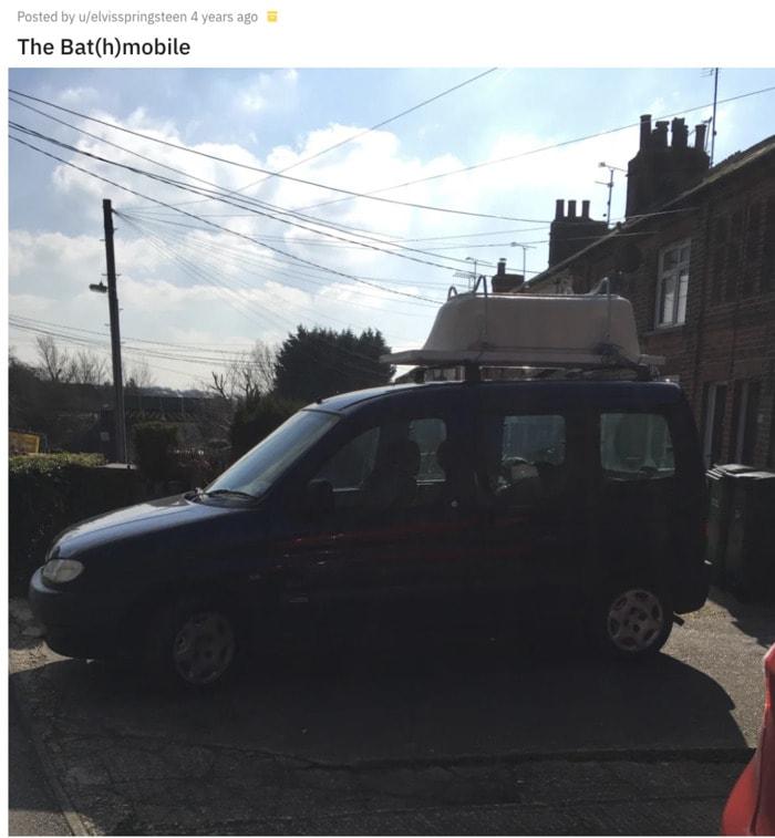 Bat Puns - The Bathmobile