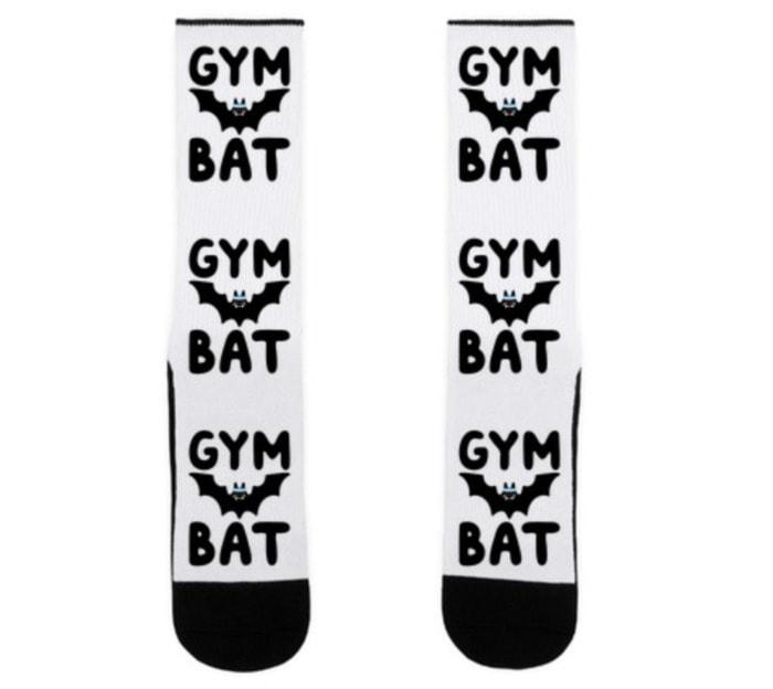 Bat Puns - Gym Bat Socks