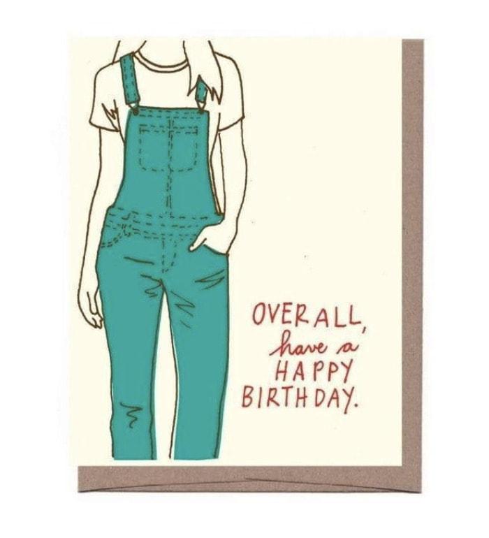 Birthday Puns - overall card