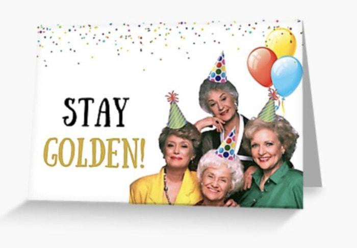 Birthday Puns - stay golden card