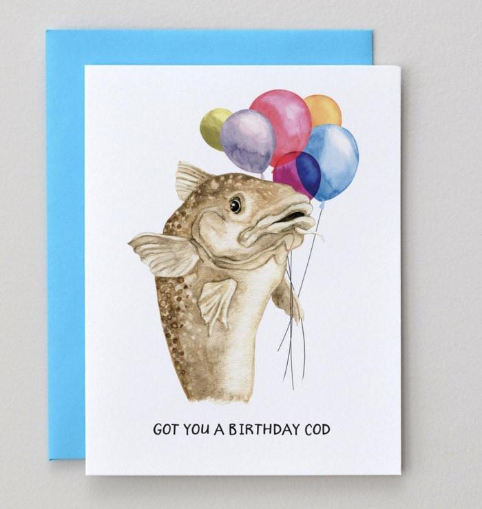 Birthday Puns - Birthday cod card