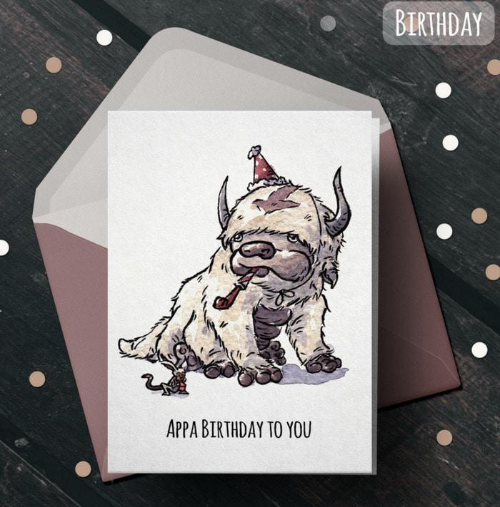Birthday Puns - Appa Birthday card