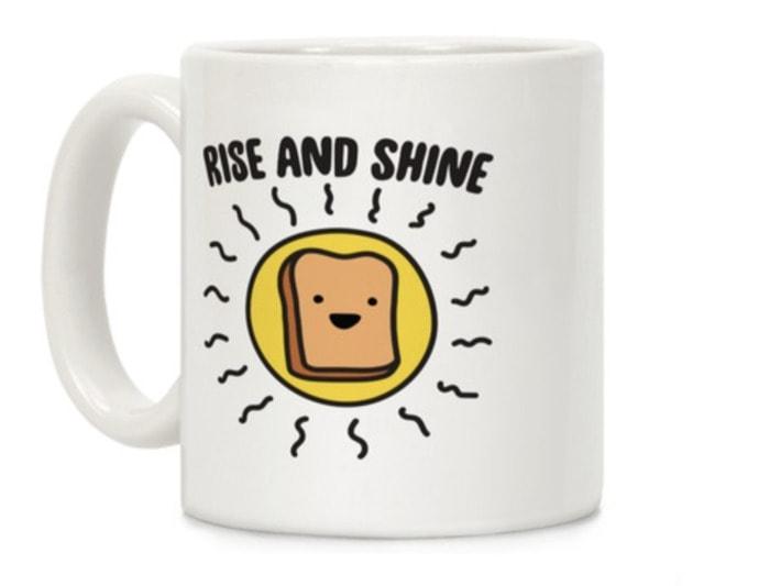 Bread Puns - rise and shine mug