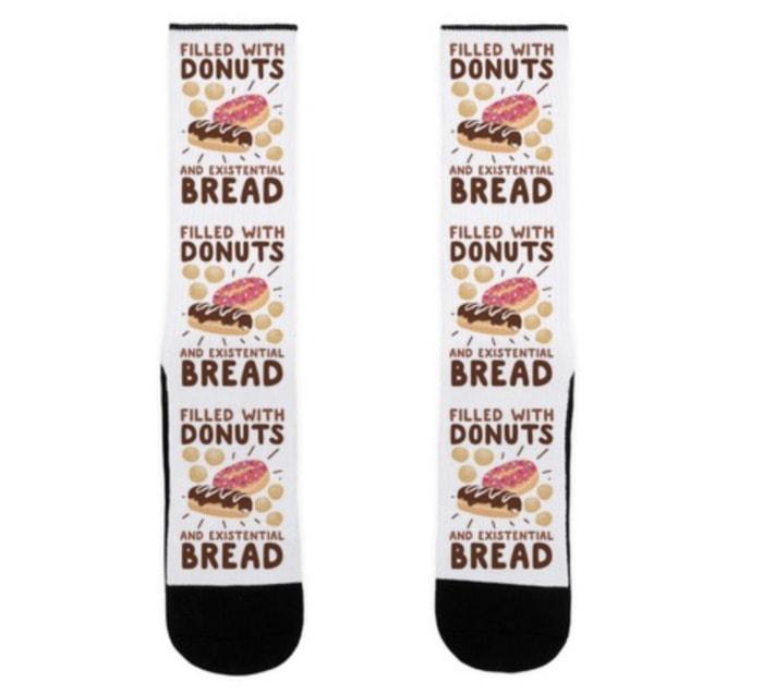 Bread Puns - donuts bread socks