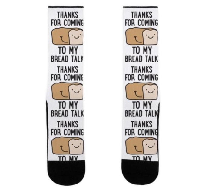 Bread Puns - My Bread Talk socks