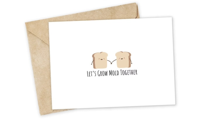 Bread Puns - Grow Mold Together card