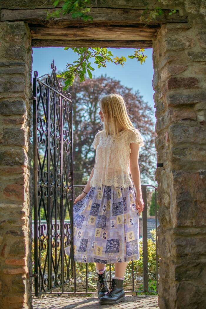 Cottagecore Aesthetic - woman in flowy dress