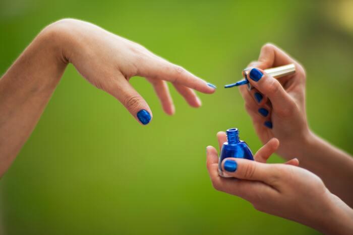 Fall Nail Colors - painting nails