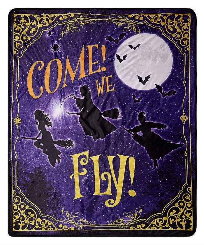 Hocus Pocus Gifts - Come We Fly Fleece Blanket