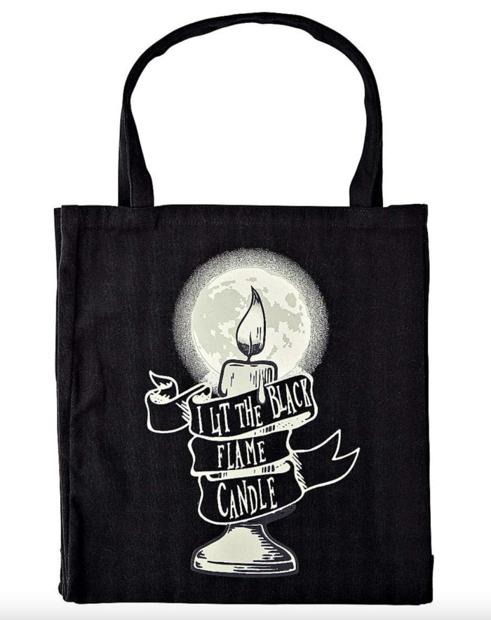 Hocus Pocus Gifts - Lit the Black Candle tote bag