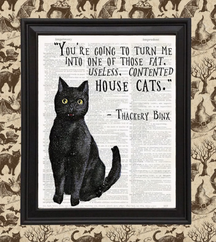 Hocus Pocus Gifts - House Cat Thackery Binx sign