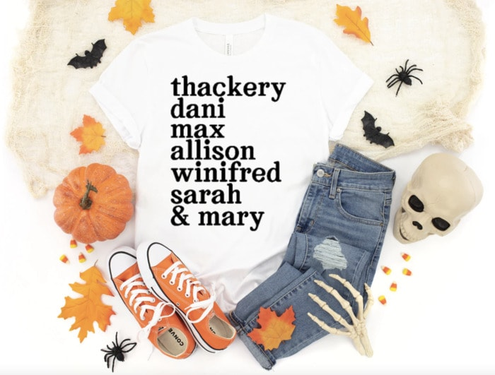 Hocus Pocus Gifts - Character Names Tee