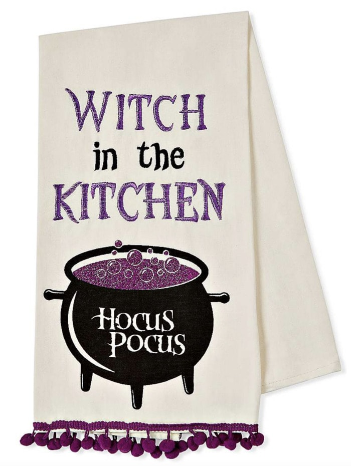 Hocus Pocus Gifts - Witch in the Kitchen Tea Towel