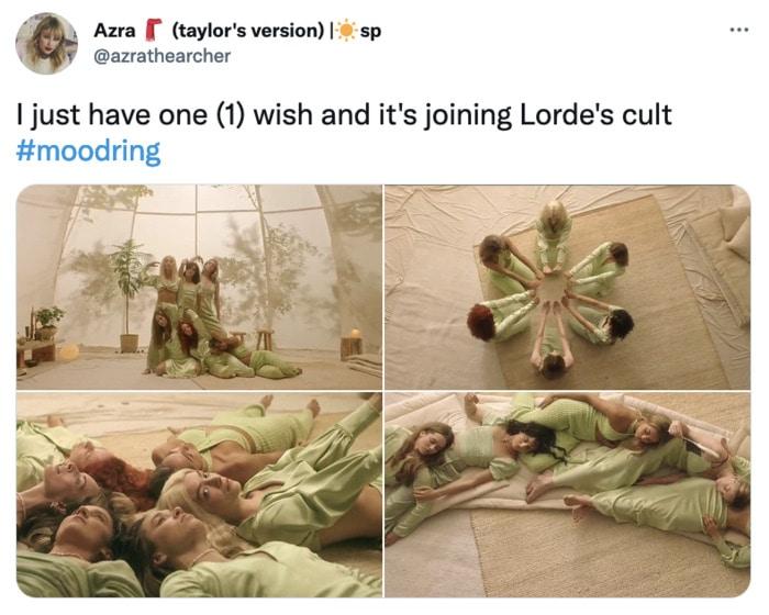 Lorde Memes - Lorde Mood Ring Music Video Tweets