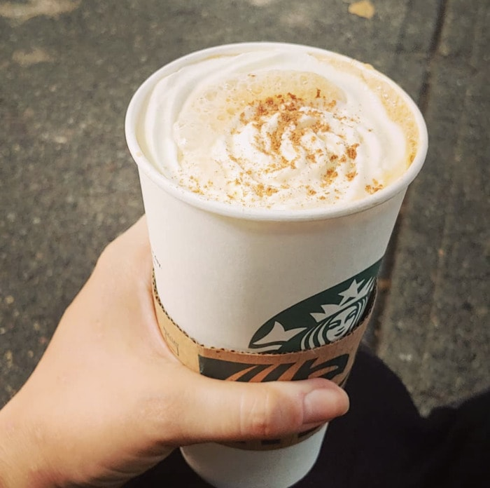 Starbucks Pumpkin Drinks - Pumpkin Spice Latte