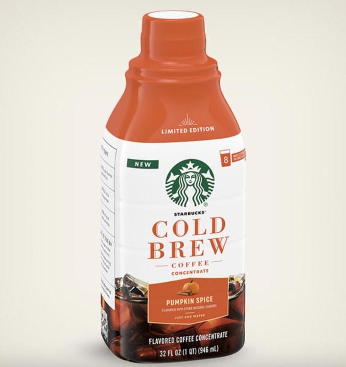 Starbucks Pumpkin Drinks - Pumpkin Spice Cold Brew