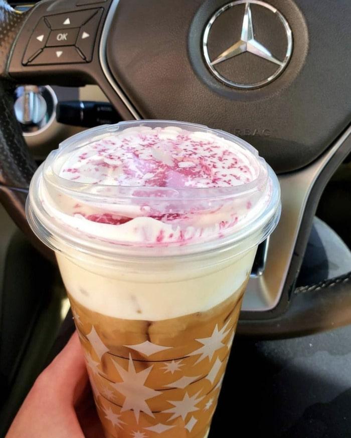 Starbucks Secret Menu - Candy Cane Cold Brew
