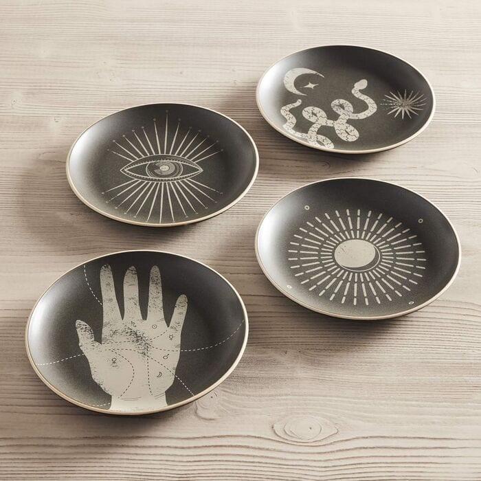 West Elm Halloween Collection - Curiosity Halloween Plates