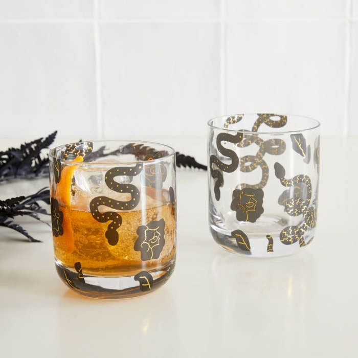 West Elm Halloween Collection - Spooky Double Old Fashioned Glasses