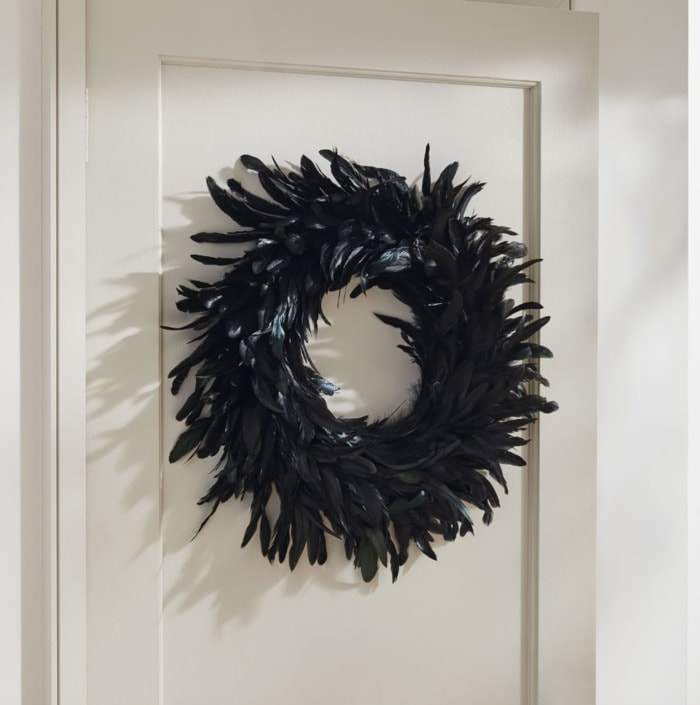 West Elm Halloween Collection - Spooky Feathers Wreath