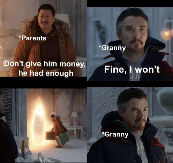 Fine I Won't Meme - grandma giving money