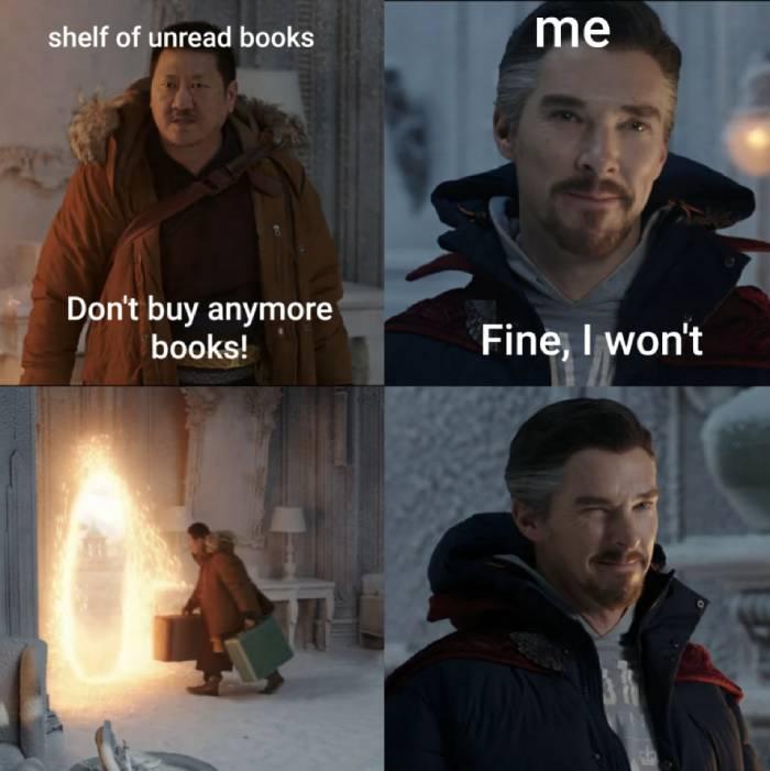 Fine I Won't Meme - unread books