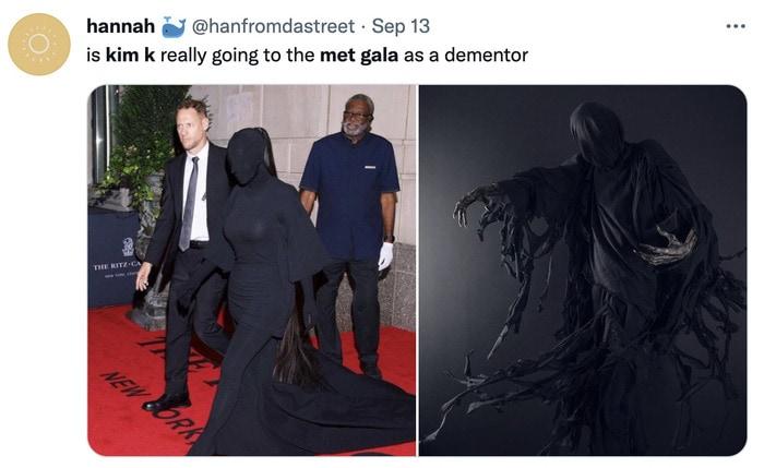 Kim Kardashian Met Gala Memes - dementor