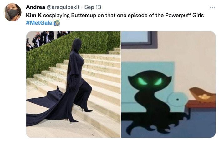 Kim Kardashian Met Gala Memes - powerpuff girls