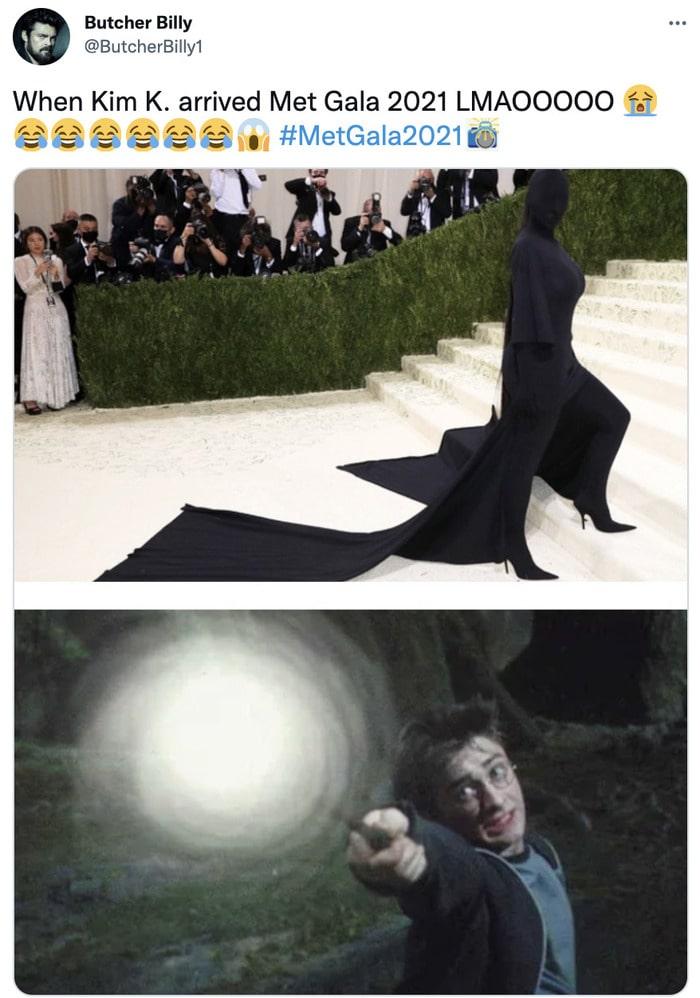 Kim Kardashian Met Gala Memes - expecto patronum