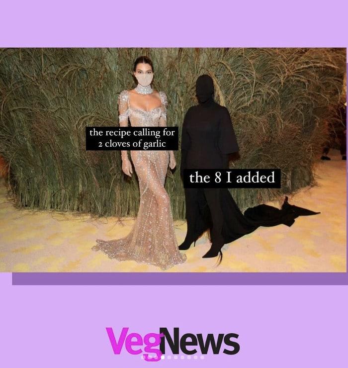Kim Kardashian Met Gala Memes - garlic