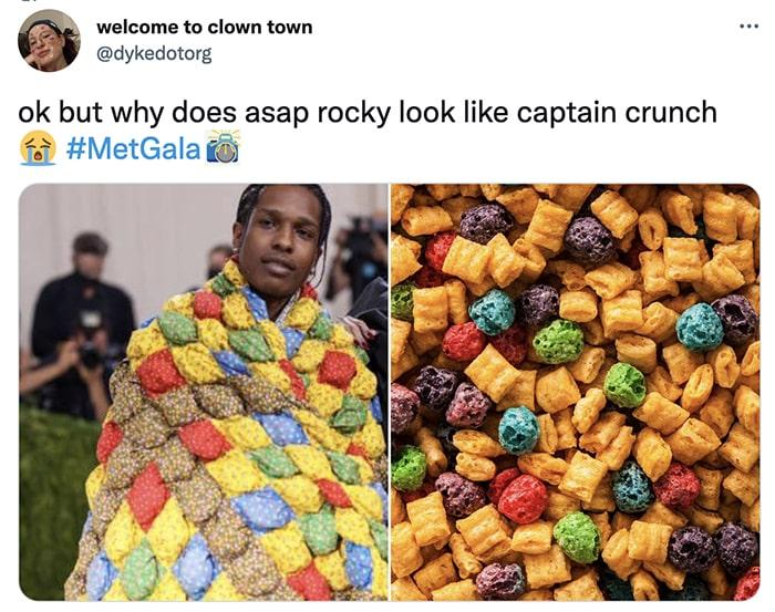 Met Gala 2021 - ASAP Rocky Captain Crunch