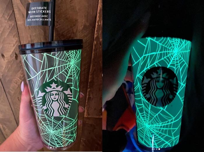 Starbucks Halloween Cups - Glow in the Dark Spiderweb Tumbler