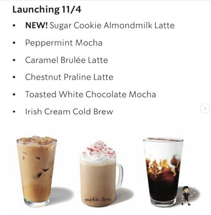 Starbucks Sugar Cookie Latte - Other holiday drinks