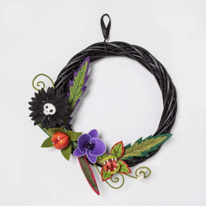 Target Halloween Faux Succulents - Ghoulish Garden Wreath