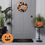 Target Halloween Faux Succulents - Pumpkin Planter
