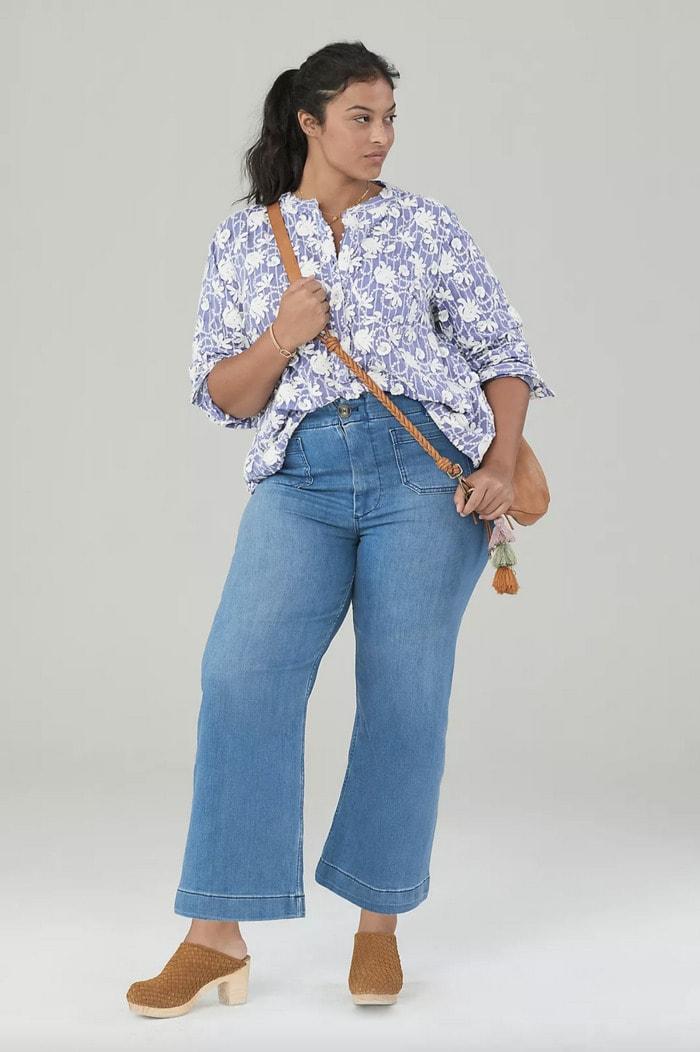 Best Jeans for Women - Pilcro The Skipper Wide Leg