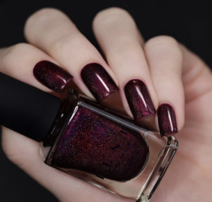 Burgundy Nail Polishes - ILNP Holographic Black Orchid