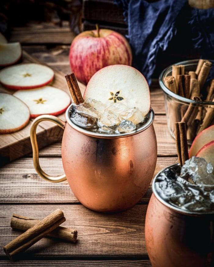 Fall Cocktails - Apple Cider Mules