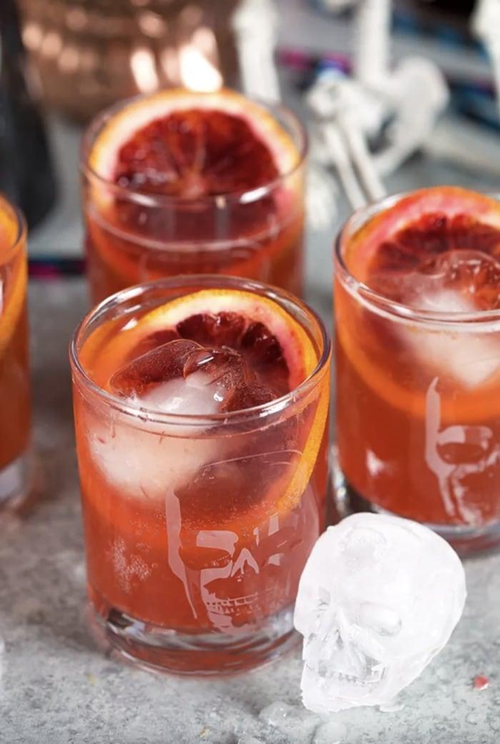 Fall Cocktails - Spiced Blood Orange Dark & Stormy